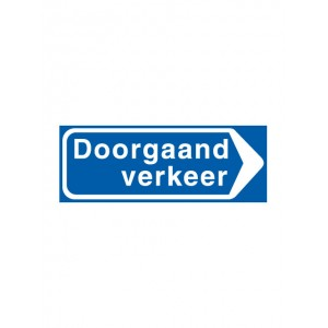 bord model BB100R 600x400mm klasse III DOR (DG³ Diamond Grade 12 jaar garantie)