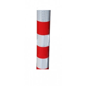 Verkeerszuil rood/wit model BB21 incl. kappen